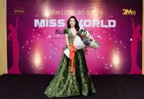 DOANH NHÂN NGUYỄN THỊ VÂN THANH XUẤT SẮC VÀO TOP 10 MISS WORLD BUSINESS 2019.